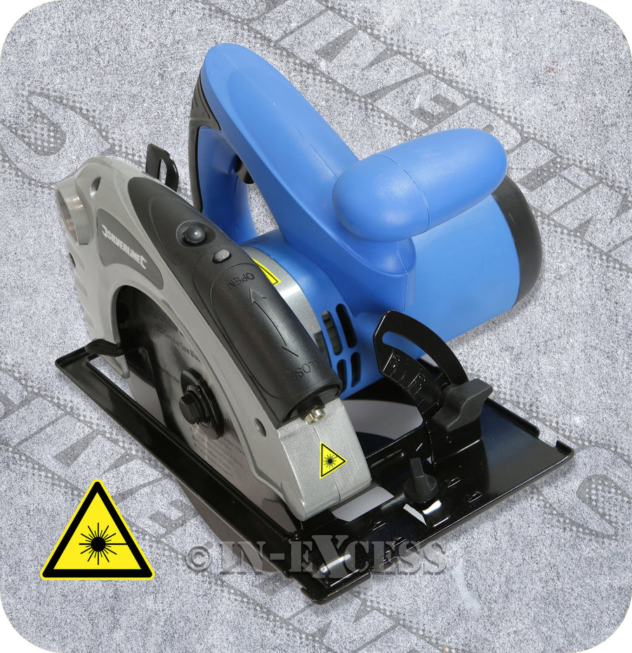 Silverline Trigger Circular Saw With Laser Guide Power Tool - 1400W