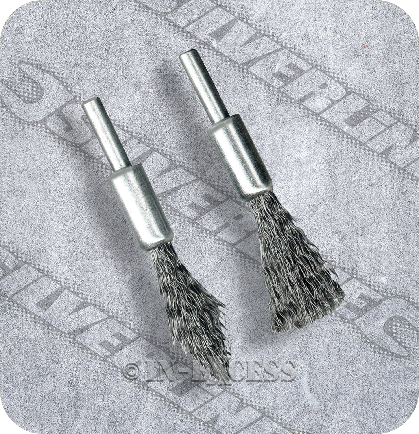 SILVERLINE 190316 DE-CARB BRUSH 6MM SHANK FOR USE WITH POWER DRILLS SET OF 2