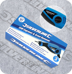 Silverline Compact Engraver & Grout Remover Power Tool - 15W