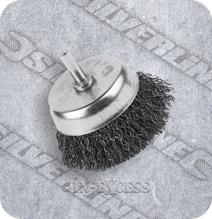 "Silverline Power Tool Accessories Rotary Wire Cup Steel Wire Brush - 50mm (2"")"
