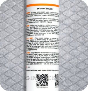 Siroflex Trade Strength Industrial GP2001 General Purpose Acetoxy Silicone Sealant - Grey (310ml)