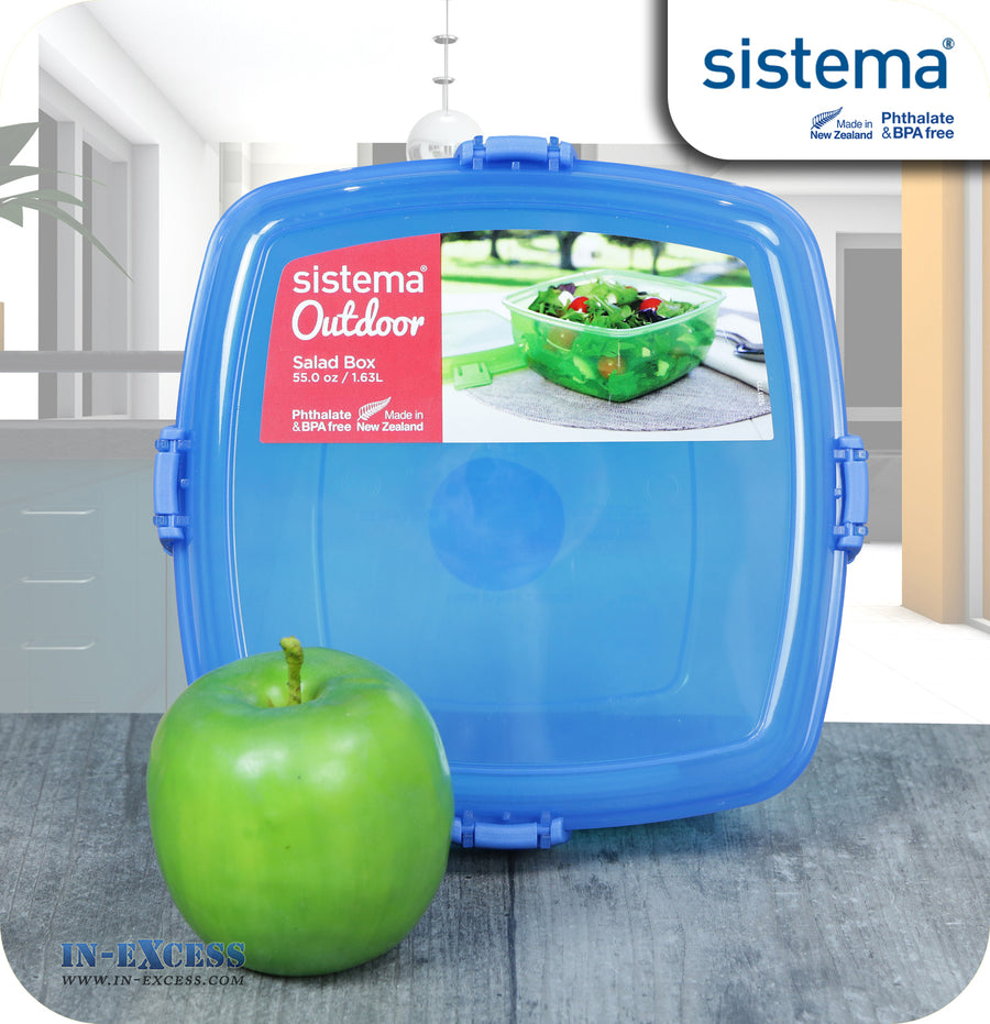 Sistema Klip IT Outdoor Salad Snack Box 1.63 Litres - Blue
