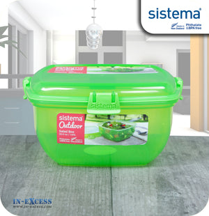 Sistema Klip IT Outdoor Salad Snack Box 1.63 Litres - Green