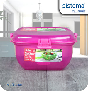 Sistema Klip IT Outdoor Salad Snack Box 1.63 Litres - Pink