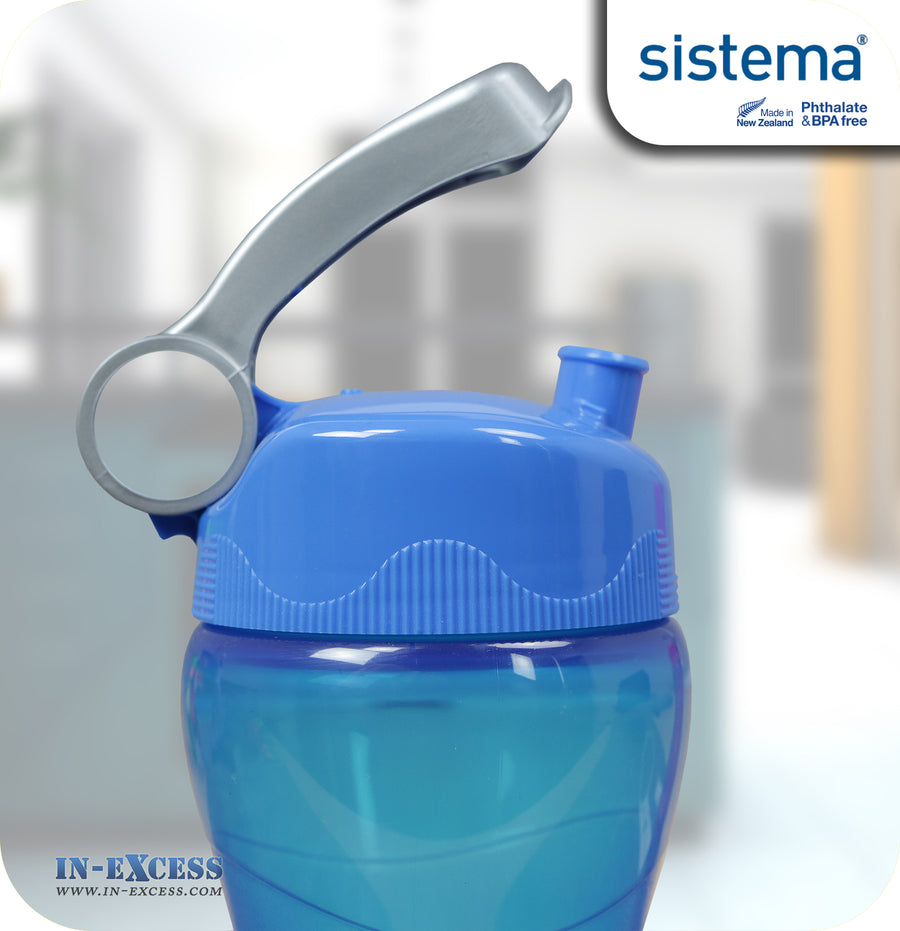 Sistema Outdoor Hourglass Water Drinks Bottle 475ml - Blue