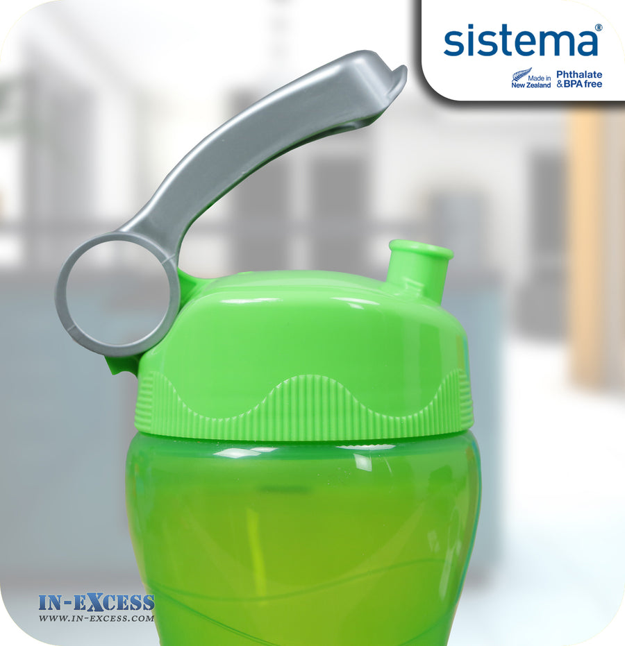 Sistema Outdoor Hourglass Water Drinks Bottle 475ml - Green
