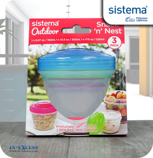 Sistema Outdoor Snack 'n' Nest Snack Pot Box - Pack of 3