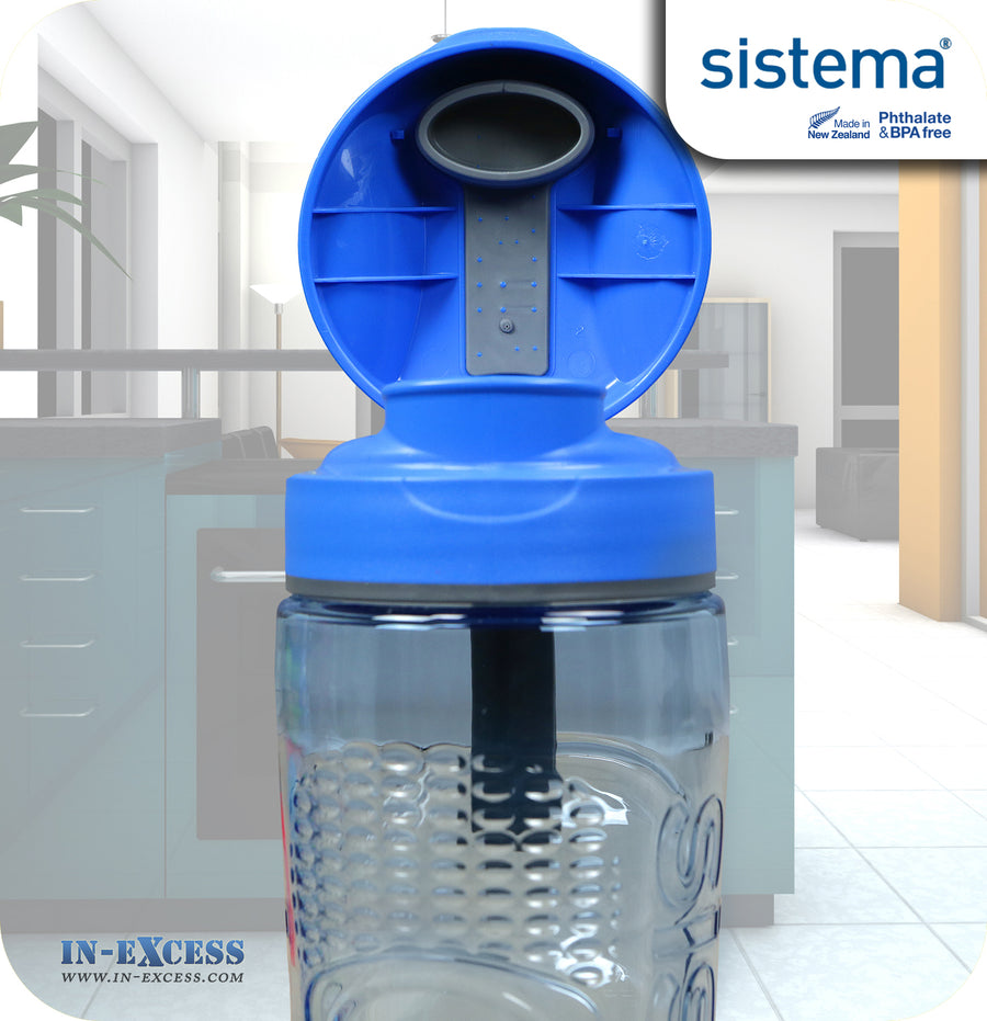 Sistema Outdoor Tritan Active Sports Water Drinks Bottle 800ml - Blue