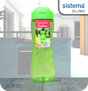 Sistema Outdoor Tritan Active Sports Water Drinks Bottle 800ml - Green