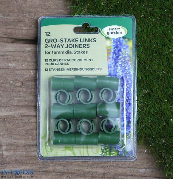 Smart Garden Gro-Stake Links 2-Way Joiners 16mm Pack of 12
