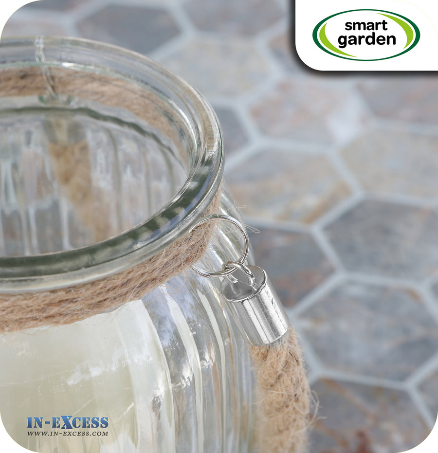 Smart Garden Battery Powered Falmouth Candle  Jar - Clear