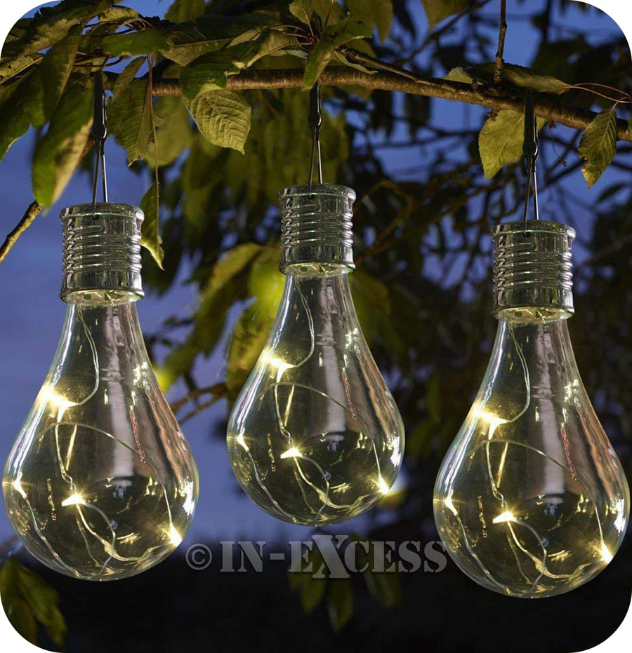 Smart Garden Smart Solar Solar Powered Hanging Glass Light Bulb - Clear