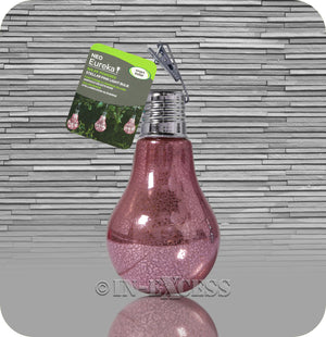Smart Garden Smart Solar Solar Powered Hanging Glass Light Bulb - Pink Patterned