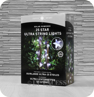Smart Garden Smart Solar Ultra String LED Solar Powered Star Lights - White