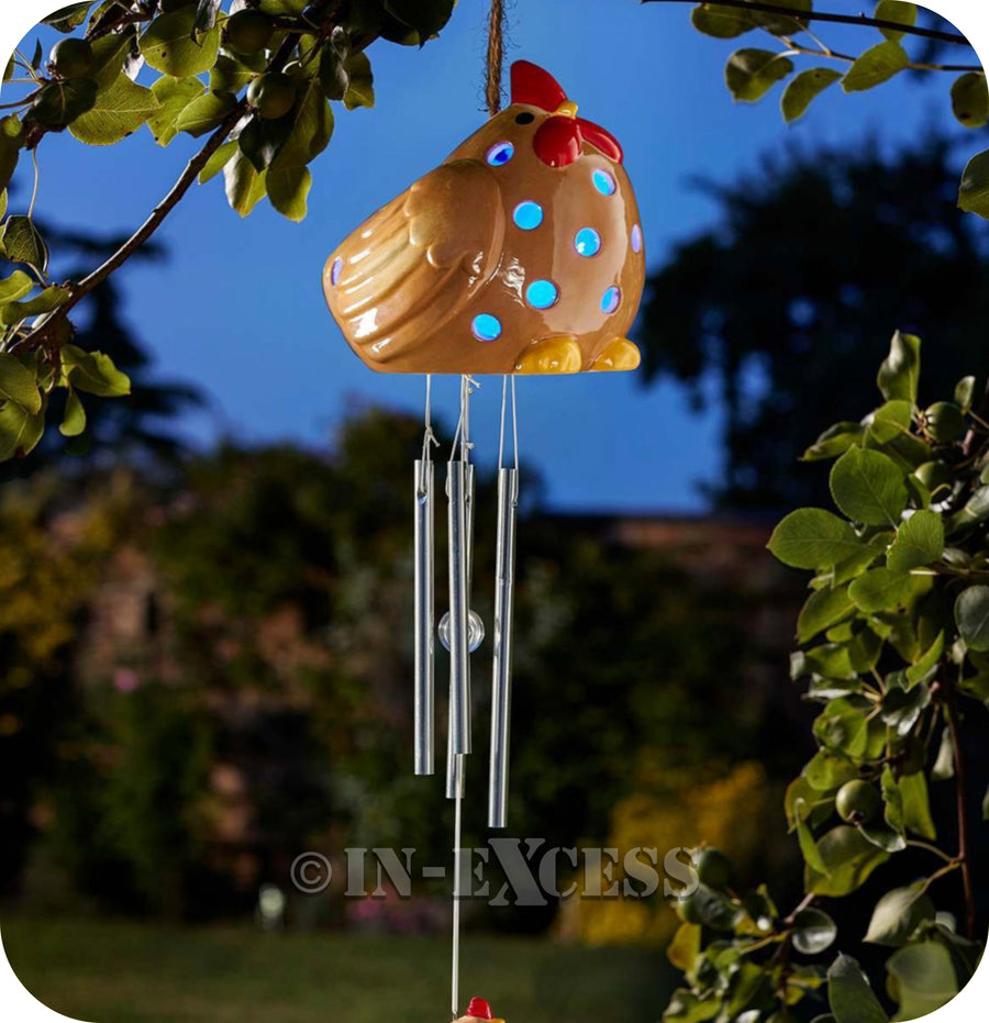 Smart Garden Smart Solar LED Windchime Ceramic Hen Light - Multi Coloured LED