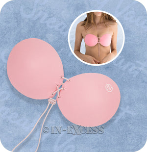 Sneaky Vaunt The Orginal Sticky Strapless Push Up Bra - Pink