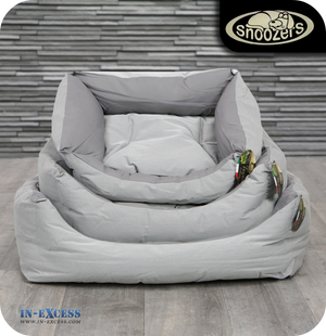 Snoozers Domino Dog Bed Textured Grey - 3 Sizes