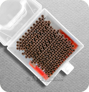 Solid Wall Brown Plastic Rawl Plug Medium Weight Fixing With Carry Case - 5-6.5mm Screw (Gauge 10-14)
