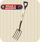 Spear & Jackson Elements Digging Fork - Carbon Steel