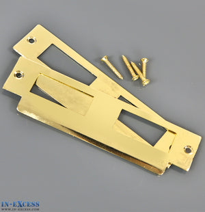 Specialist 2 x Mortice Lock Strikers Available in 2 Finishes