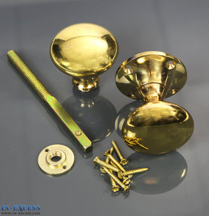 Specialist Brass Rim Knob, Rose, Spindle & Screws