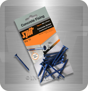 Spit Concrete Fixing Tapcon Countersunk Head Concrete Anchor Screw - M5 x 57mm