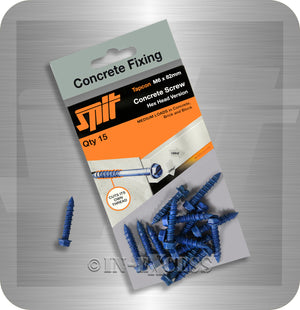 Spit Concrete Fixing Tapcon Hex Head Concrete Anchor Screw - M6 x 82mm