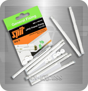 Spit General Fixing Medium Load uPVC Frame Fixing Plus Cap - M8 x 140mm