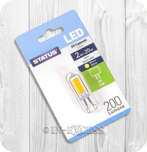 Status LED Non-Dimmable G9 Capsule Bulb 2W~20W - Warm White