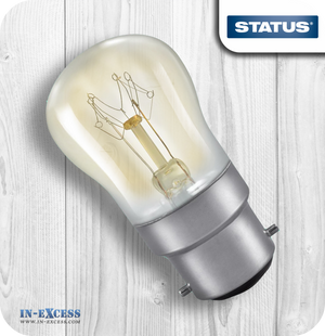 Status Pygmy Light Bulbs Clear BC/B22 15W - Pack of 2