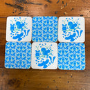 Stow Green Coasters - Blue Birds Woodland Friends - pack of 6