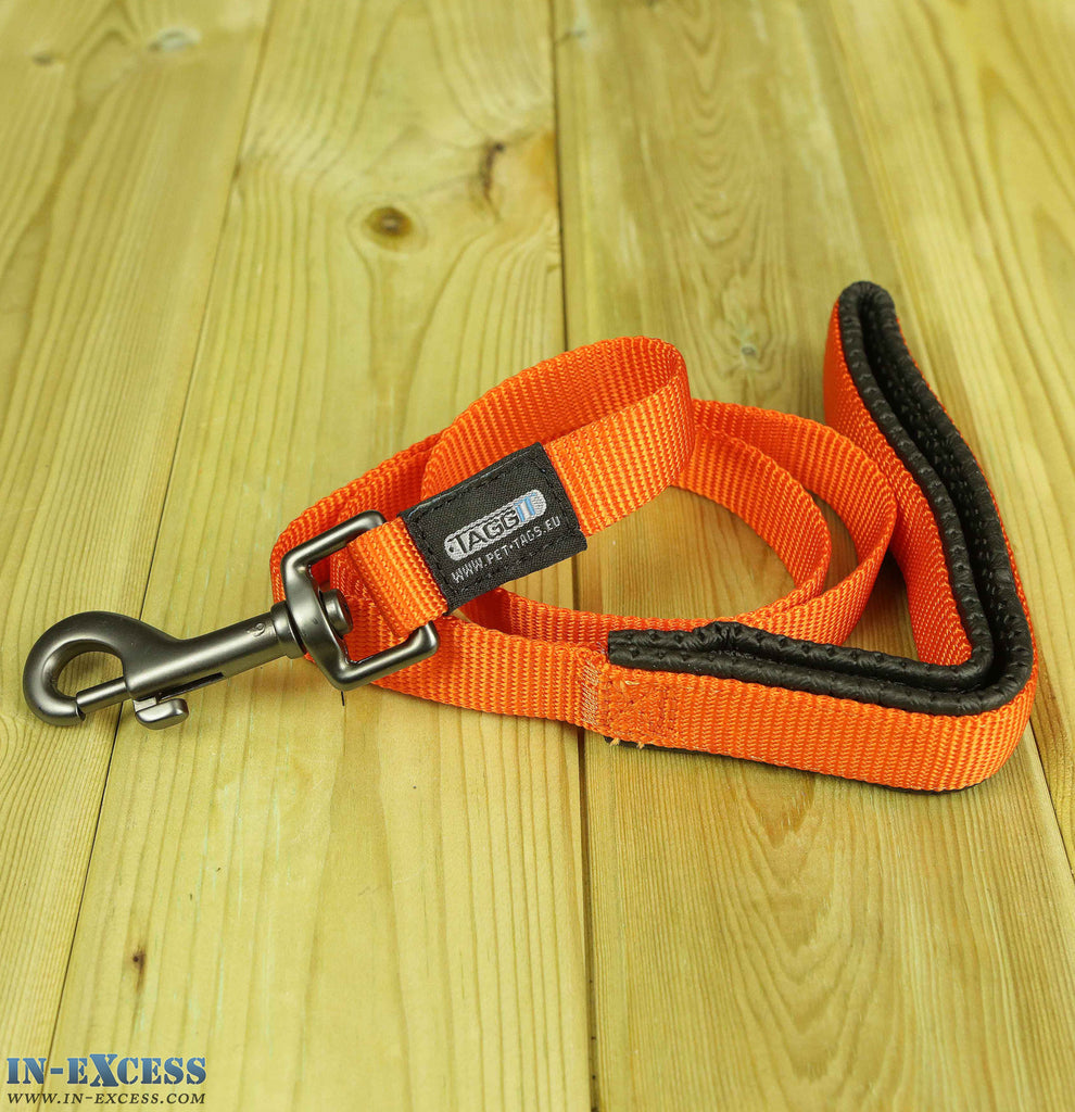 Taggit Nylon Webbed Dog Lead Orange - 1m & 1.2m