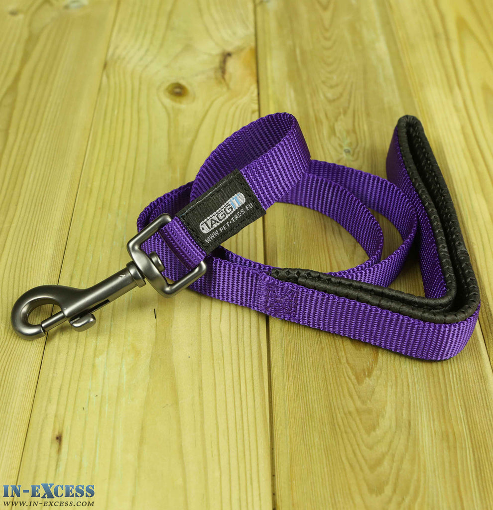 Taggit Nylon Webbed Dog Lead Purple - 1m & 1.2m