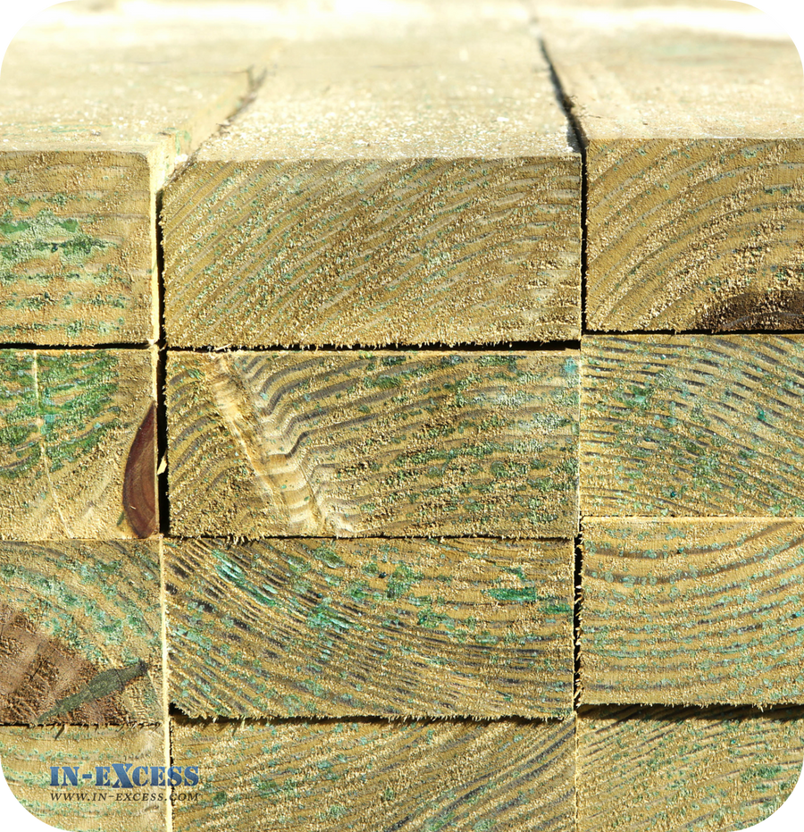 Tanalised Squared Rough Sawn - 100mm x 47mm