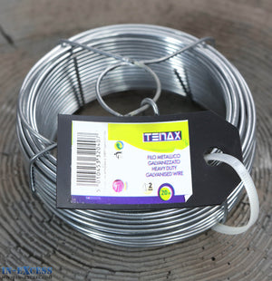 Tenax Heavy Duty Galvanised Line Wire 2.0mm x 20 Metres