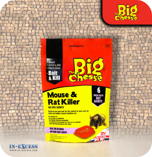 The Big Cheese Mouse & Rat Killer Bait Sachets - 6 Sachets (STV122)