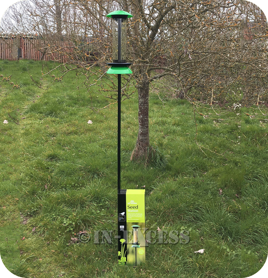 The Original Tom Chambers Wildlife Bird Seed Station With Squirrel Baffle - 2.06m