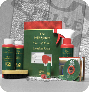 The Pellé Care System Complete Master Leather Cleaning Maintenance Kit - 3 x 250ml