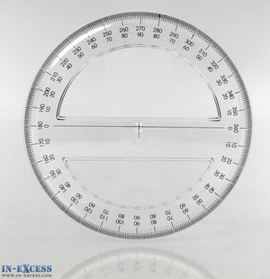 In-Excess 15cm Transparent 360 Degree Protractor
