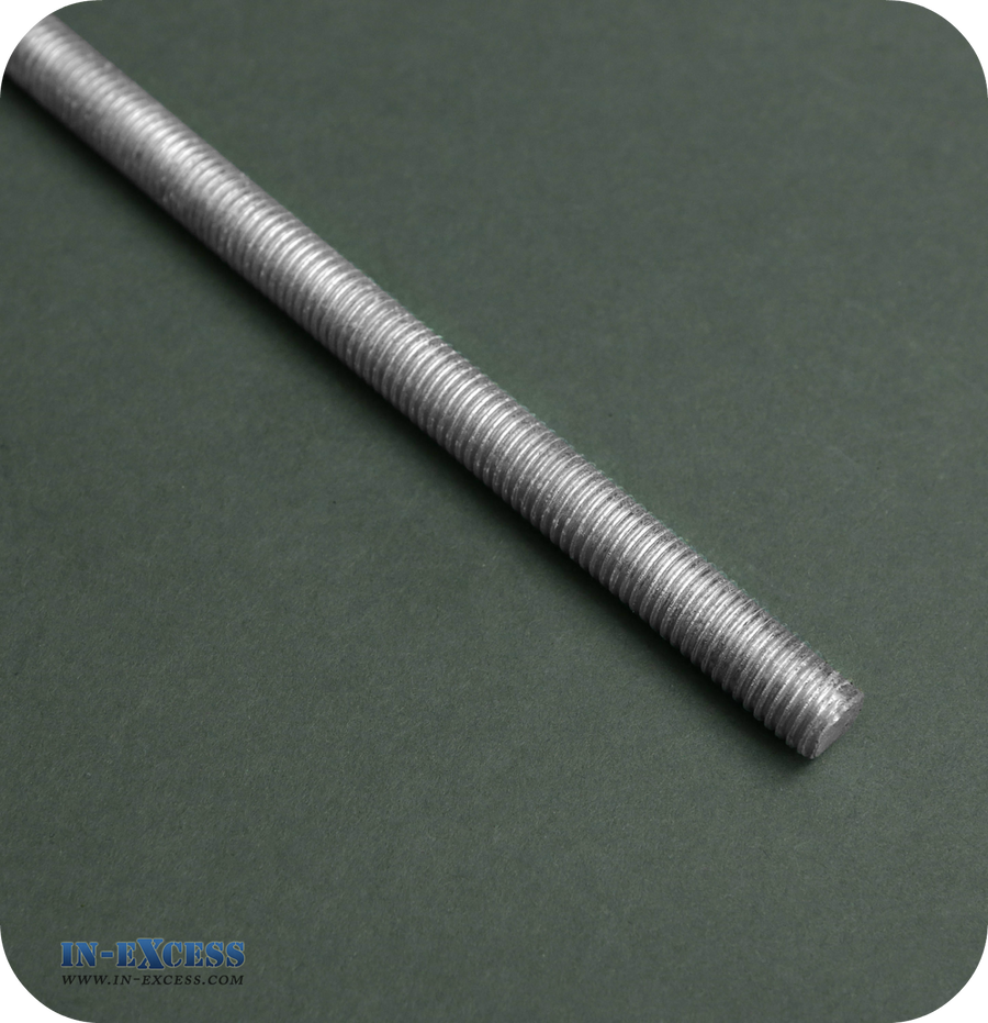 Galvanised Threaded Bar 1mtr - Various Diameters Available