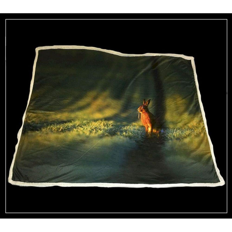 Country Matters Hare design soft touch throw 130 x 150cm