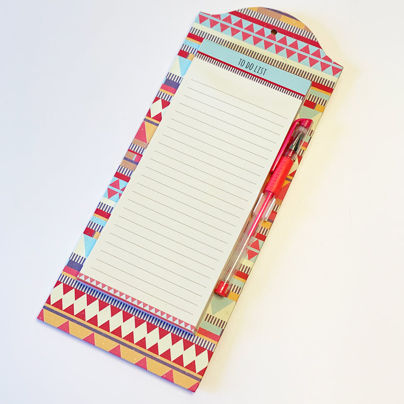 Nazca Inca Design Luxury Magnetic Jotter Pad & Pen Set
