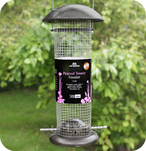 The Original Tom Chambers Wildlife Cast Aluminium Peanut Tower Bird Feeder - Large