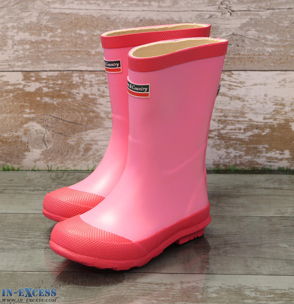 Town & Country Kid's Wellington Rain Boots - Pink