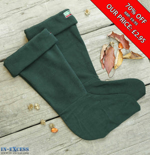 Town & Country Warm Winter Fleece Wellington Boot Sox Liner