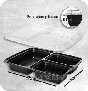 TripWorthy Re-Usable Microwave Safe Non Toxic Food Preparation Containers - Pack of 10