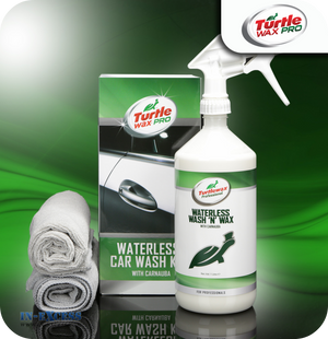 Turtle Wax Pro Waterless Car Wash Kit with Carnauba - 1 Litre