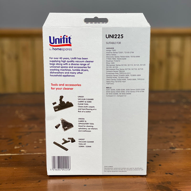 Unifit Vacuum Cleaner Bags for Miele Hoovers & vacuum cleaners UNI225