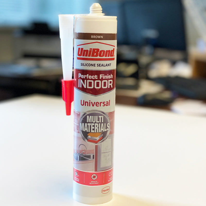 UniBond Perfect Finish Indoor BROWN Silicone Sealant