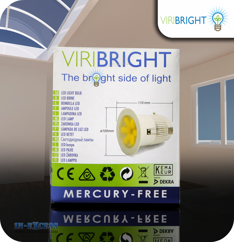 ViriBright LED Downlight 550lm GU10 - 8W